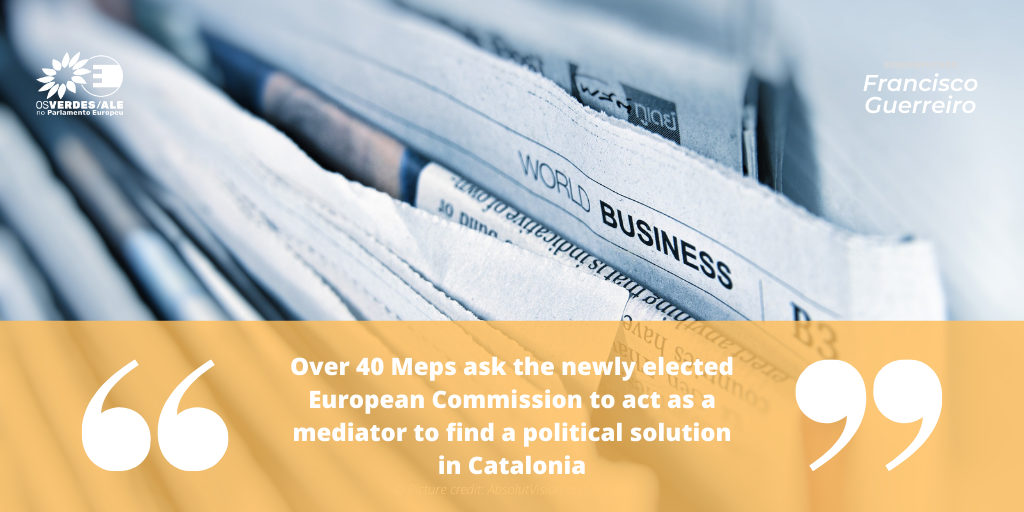 EU Catalonia Dialogue Platform: 'Over 40 Meps ask the newly elected European Commission to act as a mediator to find a political solution in Catalonia'