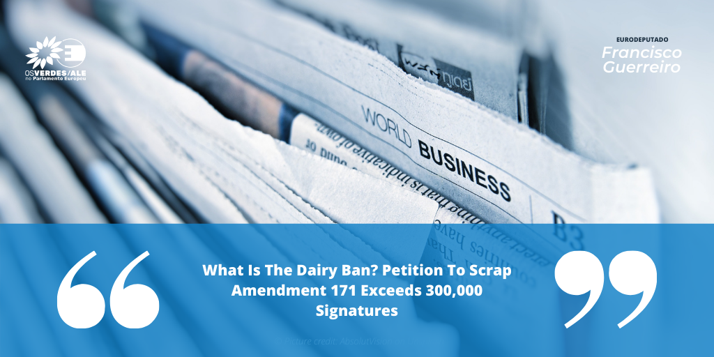 Plant Based News: 'What Is The Dairy Ban? Petition To Scrap Amendment 171 Exceeds 300,000 Signatures'