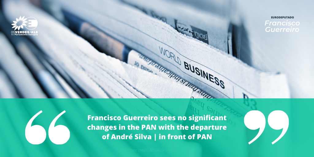 Valley Bugler Newspaper: 'Francisco Guerreiro sees no significant changes in the PAN with the departure of André Silva | in front of PAN'