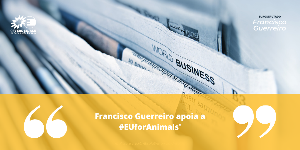 EU For Animals: 'Francisco Guerreiro apoia a #EUforAnimals'