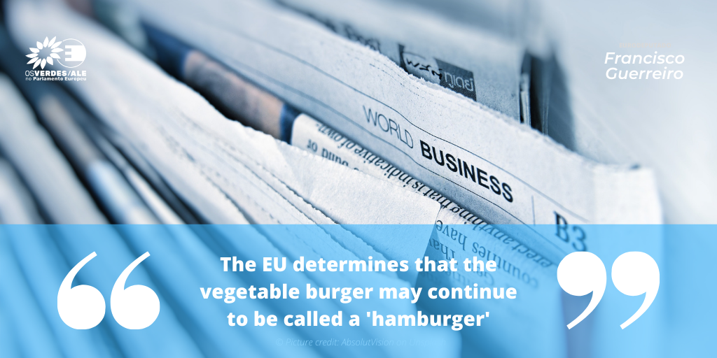 Teller Report: 'The EU determines that the vegetable burger may continue to be called a 'hamburger'